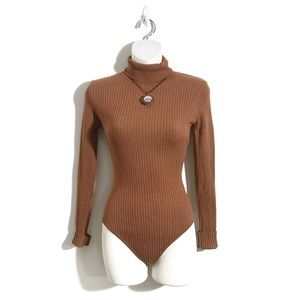 Hera Collection Small Ribbed Bodysuit, Turtleneck